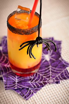 Would you like a cherry or a spider? Halloween Party Punch -Momo