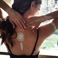 Hey, I found this really awesome Etsy listing at https://www.etsy.com/listing/220066409/2-sheets-gold-tattoos-temporary-tattoos