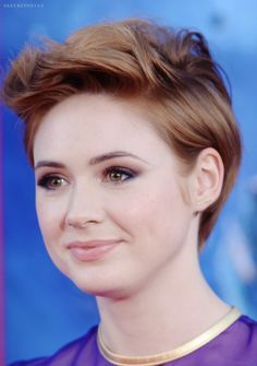 This cut is so cute on Karen Gillan, but I don't know if I'd ever be brave enough to go that short!