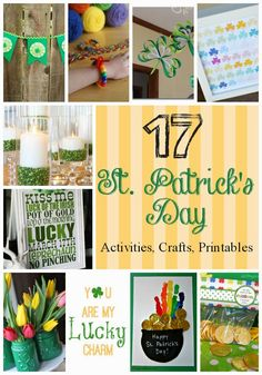 St. Patrick's Day Activities, Crafts and Printables | This Girl's Life Blog