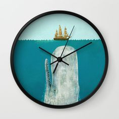 Shop for our blue wall clocks. Available in natural wood, black or white frames, our 10
