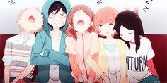 Animated gif about funny in Ao Haru Ride by Sαяαн Futaba Y Kou, Futaba Yoshioka, Anime Gifs, Manga Anime, Anime Art, My Little Monster, Little Monsters, Vocaloid, Tanaka Kou