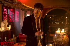 The very first still of Godfrey Gao as Magnus Bane. He looks amazing!