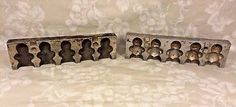 Antique Chocolate Mold Gingerbread Men Stainless Steel