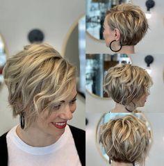 Kurzhaarfrisuren 50 cute short haircuts for women 2019 - short haircuts are among the most beautiful Bob Haircuts For Women, Cute Short Haircuts, Short Hair Cuts For Women, Short Hairstyles For Women, Bob Hairstyles For Fine Hair, Layered Hairstyles, Wedding Hairstyles, Boho Hairstyles, Back Of Short Hair