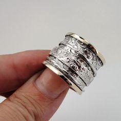 Lady vrouwen 925 Sterling Zilver & 9 K goud filigraan door jewela