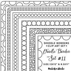 Doodle Frame Clipart Frames Clip Art Instant Digital | Etsy