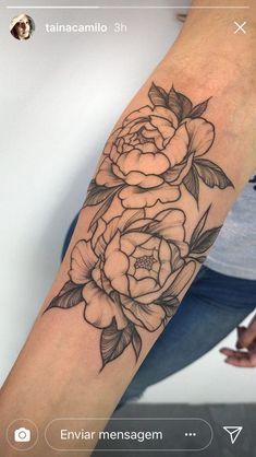 Tatuagem Flores Peônias