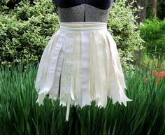 Ivory Ribbon Tutu Skirt Bride Costume by playnwithbeads on Etsy, $20.00