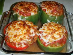 Adventures in Flip Flops: Classic Stuffed Peppers. Harv and I LOVED these and made them twice in the same week!