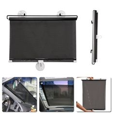 1PC 40cm*60cm Auto Retractable Side Window Car Sun Shade Curtain Windshield Sunshade Shield Cover Mesh Visor Shield for Cars