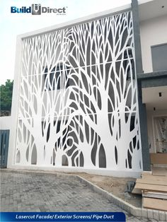BuildDirect Africa - Africa's First and Biggest Laser Cut Building Addition Manufacturer Laser Cut Screens, Laser Cut Panels, Home Building Design, Building Facade, Build Direct, Balcony Grill Design, Decorative Screen Panels, Building An Addition, House Gate Design