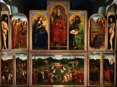 Ghent Altarpiece, cannot wait to see this piece of art when I study abroad in Belgium