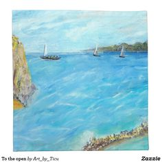 To the open #sea #napkins #decoupage #idea #zazzle #painting