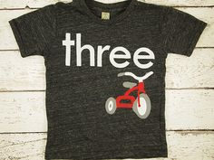 Tricycle Shirt first birthday second etc by lilthreadzclothing, $37.00