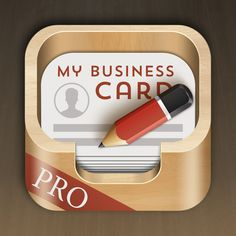 CardStudio Pro App by KorbCorp iOS App icons (selected works) by Alex Rockbell, via Behance