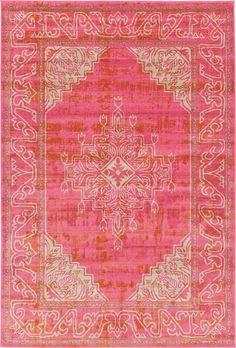 Bungalow Rose Stockholm Pink Area Rug & Reviews | Wayfair