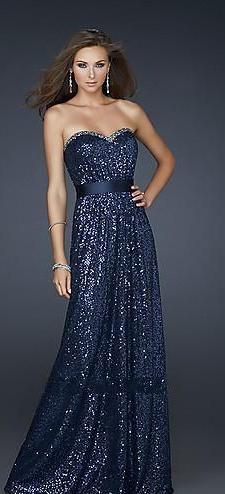 Dark blue sparkly glittery prom dress prom dresses