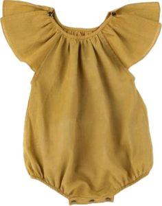 Baby girl ruffle sleeve romper sunsuit por BoutiquePoshLLC en Etsy