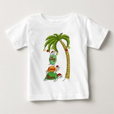 Hawaiian Christmas Turtle Santas Baby T-Shirt