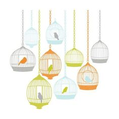 Brewster WPK0715 St Tropez Wall Art Kit N/A Home Decor Wall Decals ($30) ❤ liked on Polyvore featuring home, home decor, wall art, wall decals, wallpaper, orange wall art, bird wall decals, orange home decor, birdcage wall art and peel and stick wall art