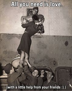 """i know it's straange to put this in my """"bucket list"""" but how fun would it be to have a bunch of men lift you up to kiss the one you love :)"""