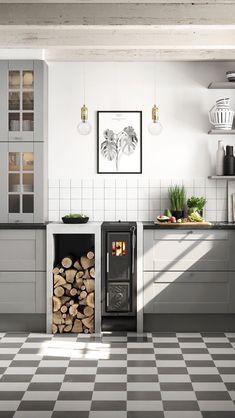 Beautiful Modern Kitchen Ideas, Pictures, & Designs 2020 - My Lovely Home Design Modern Kitchen Cabinets, Modern Farmhouse Kitchens, Modern Kitchen Design, Cool Kitchens, Kitchen Dining, Kitchen Decor, Kitchen Ideas, Küchen Design, House Design