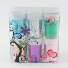 PEPPERLONELY Brand Box of 12 Bottles Nail Art Transfer Foil Nail Sticker Tip Decoration -- Be sure to check out this awesome product.