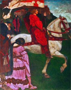 Edwin Austin Abbey 1895 Galahad Leaving the Castle of the Grail