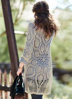 Outstanding Crochet: Crochet Mandala Cardi from Peruvian Connection.