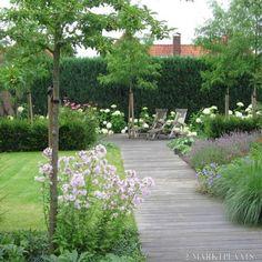 Romantisch terras, prachtige beplanting Door Lien8