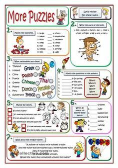 "The title of this worksheet is ""more puzzles because I have already uploaded a first part that you can download if you want. It's easier than this one. Here you are the link:https://en.islcollective.com/resources/printables/worksheets_doc_docx/basic_puzzles/be-auxiliary-verb/80360Happy New School Year for everybody. - ESL worksheets"