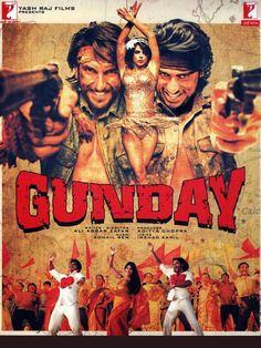 Gunday (Hindi Movie) Bollywood Posters, Bollywood Songs, Yash Raj Films, Indian Drama, Full Movies Download, Hindi Movies, Ranbir Kapoor, Entertaining, Movie Posters