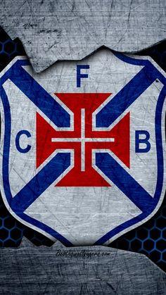 Belenenses, 4k, logo, Primeira Liga, soccer, football club, Portugal, grunge, metal texture, Belenenses FC