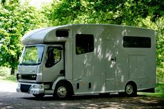 One of my favourite photographs, the Helios horsebox in the woods. #KPHLTD #HorseHour #horseboxesforsale #horseboxes