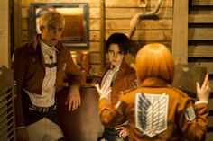 Brilliant AOT cosplay of Armin, Erwin and Levi
