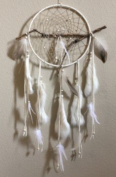 Sacred Tree Dreamcatcher White & Maple Native by Dreamforum
