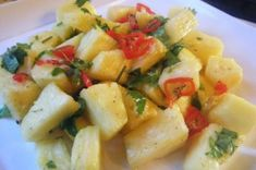 A Spicy Pineapple Salad Inspired by Mangoes.
