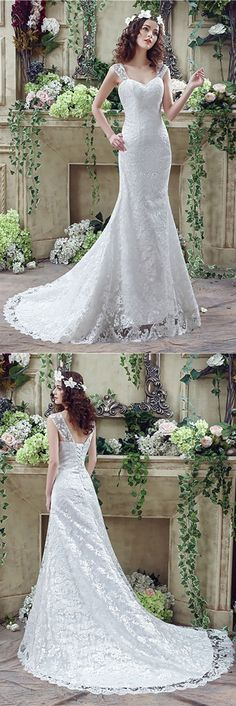 Only $124.99, Lace Wedding Dresses Princess Fitted Trumpet Wedding Dress All Lace With Straps #H76019 at #GemGrace. View more special Wedding Dresses,Mermaid Wedding Dresses,Lace Wedding Dresses,Country Wedding Dresses now? GemGrace is a solution for those who want to buy delicate gowns with affordable prices, a solution for those who have unique ideas about their gowns. Shop now to get $10 off!