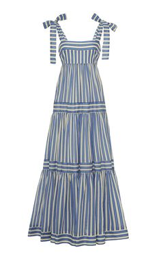 Zimmermann Verity Striped Cotton-Voile Maxi Dress Source by modaoperandi dresses design Beautiful Dress Designs, Beautiful Dresses, Cute Dresses, Casual Dresses, Awesome Dresses, Maxi Dresses And Skirts, Striped Maxi Dresses, Party Dresses, Dress Outfits