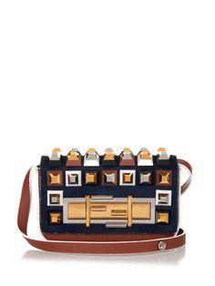 Mini 3Baguette stud-embellished cross-body bag   Fendi