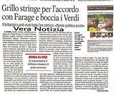 Oggi La Gazzetta del Mezzogiorno fatto vera Notizia sul 5 stelle.
