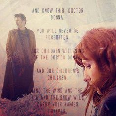 Donna may never be forgotten but Donna herself forgot. Oh the feels...
