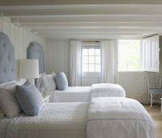 Bedroom Modern White Nuance Interior Design For Girl's Bedroom That Can Be Decor With White Curtains Can Add The Modern Touch Inside Bedroom With White Bed Cute Interior Design For Girl's Bedroom White Headboard, White Curtains, White Bedding, Guest Bedrooms, Guest Room, Cottage Bedrooms, White Bedrooms, Suites, Beautiful Bedrooms