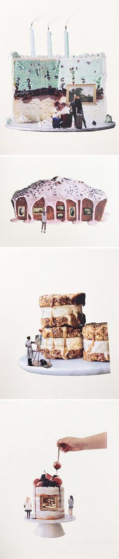 art & cake collages by kc christmas <3
