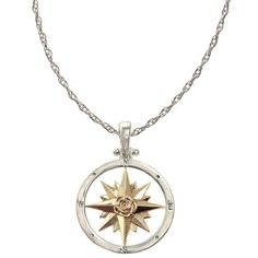Compass Necklace ❤ liked on Polyvore featuring jewelry, necklaces, accessories, 14 karat gold necklace, custommade, pendants & necklaces, 14k necklace and 14 karat gold jewelry