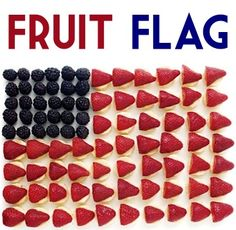 How to Make a Fruit Flag! ~ from TheFrugalGirls.com ~ this is the perfect patriotic treat for your 4th of July parties! #4thofjuly
