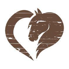logo-corporate-design-maike-murawski-physioterharpeutin-pferdetrainerin-pferdekopf-herz Horse Pencil Drawing, Horse Drawings, Stencil Art, Stencils, Homemade Stuffed Animals, Cowboy Crafts, Barn Quilt Designs, Diy Back To School, Horse Silhouette