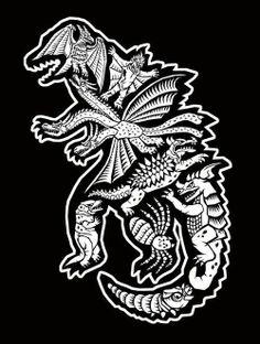 Kaiju Godzilla, Rodan, King Ghidorah, Anguirus, Varan, Baragon