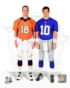 Peyton Manning   Eli Manning 2012 Posed Photo Print (20 x 24) 5c8690158